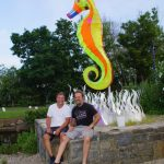 Bryan and Clayton with Seahorse